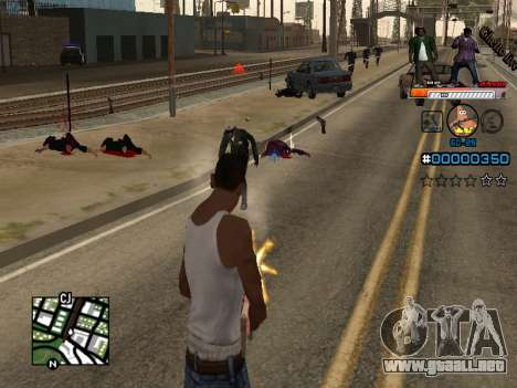 C-HUD Ghetto Live para GTA San Andreas segunda pantalla