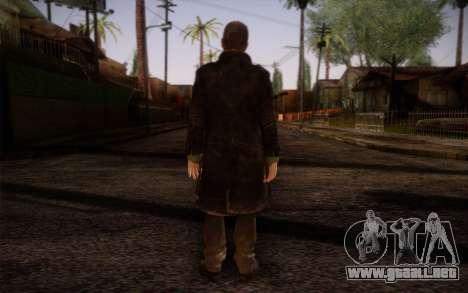 Aiden Pearce from Watch Dogs v8 para GTA San Andreas segunda pantalla