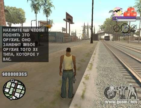 C-HUD Pony and Pomidors para GTA San Andreas segunda pantalla