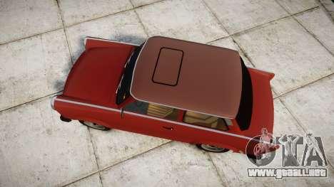 Trabant 601 deluxe 1981 para GTA 4 visión correcta