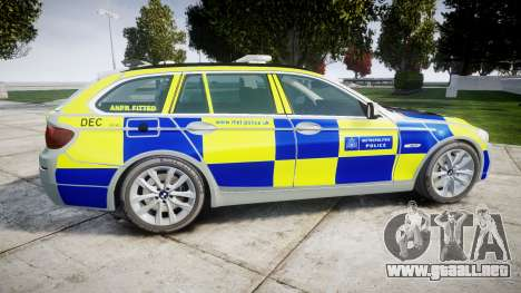 BMW 525d F11 2014 Police [ELS] para GTA 4 left