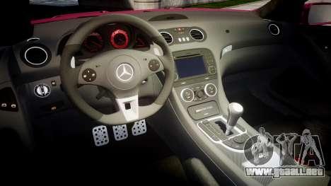 Mersedes-Benz SL65 AMG 2009 Sharpie para GTA 4 vista interior