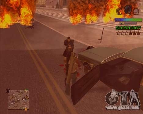 C-HUD Simple para GTA San Andreas tercera pantalla