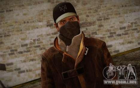 Aiden Pearce from Watch Dogs v6 para GTA San Andreas tercera pantalla