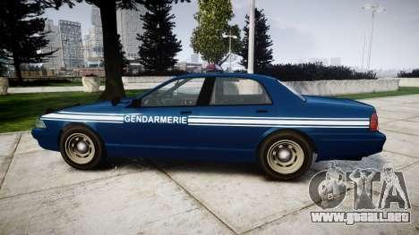 GTA V Vapid Police Cruiser Gendarmerie1 para GTA 4 left