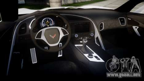 Chevrolet Corvette Stingray C7 2014 para GTA 4 vista interior