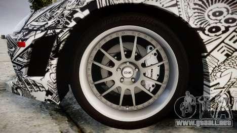Toyota Supra 1998 Sharpie para GTA 4 vista hacia atrás