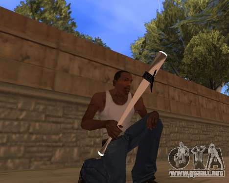 White Chrome Gun Pack para GTA San Andreas tercera pantalla