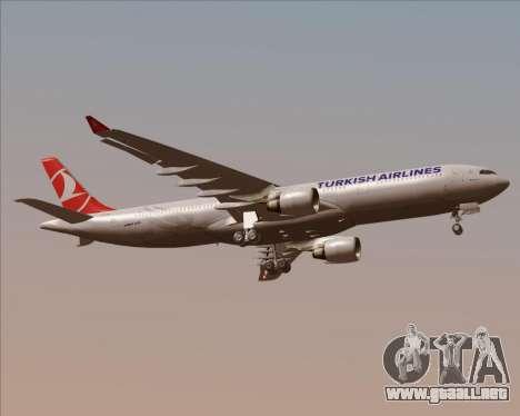 Airbus A330-300 Turkish Airlines para la visión correcta GTA San Andreas