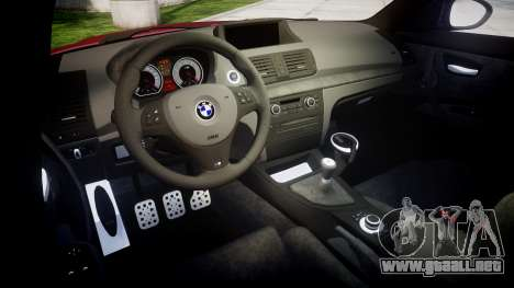 BMW 1M 2011 para GTA 4 vista interior