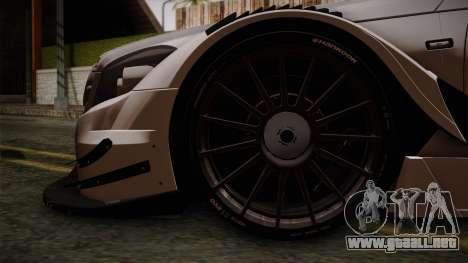 Mercedes-Benz C-Coupe AMG DTM para GTA San Andreas vista posterior izquierda
