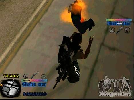 C-HUD Ghetto Star para GTA San Andreas sucesivamente de pantalla