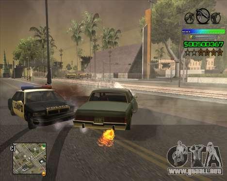C-HUD Simple para GTA San Andreas sucesivamente de pantalla