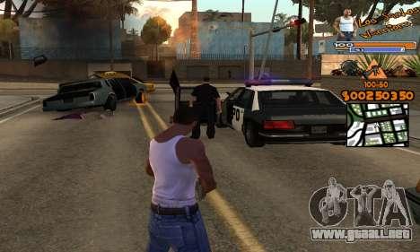 C-HUD by Fernando Delgado para GTA San Andreas segunda pantalla