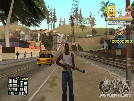 C-HUD Sponge Bob para GTA San Andreas segunda pantalla
