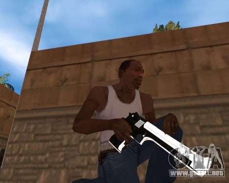 White Chrome Gun Pack para GTA San Andreas segunda pantalla
