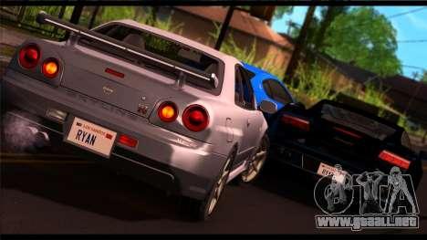 Forza Plata ENB por medio de la PC para GTA San Andreas segunda pantalla