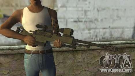 Piers Nivans Rifle from Resident Evil 6 para GTA San Andreas tercera pantalla