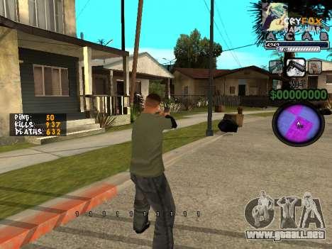 C-HUD. Con. Y. para GTA San Andreas segunda pantalla