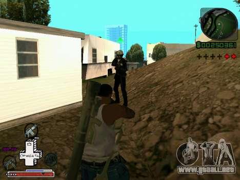 C-HUD Optiwka para GTA San Andreas sucesivamente de pantalla