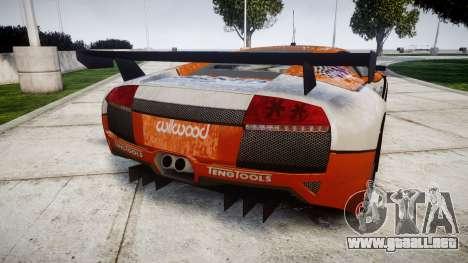 Lamborghini Murcielago LP640 R-GT para GTA 4 Vista posterior izquierda