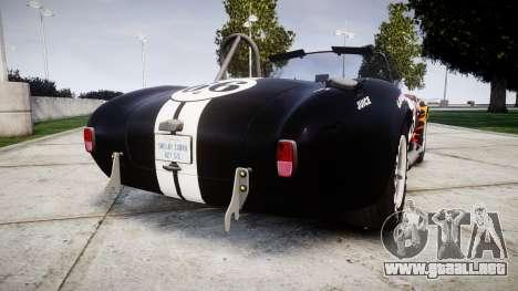AC Cobra 427 PJ2 para GTA 4 Vista posterior izquierda