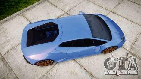 Lamborghini Huracan LP610-4 2015 para GTA 4 visión correcta
