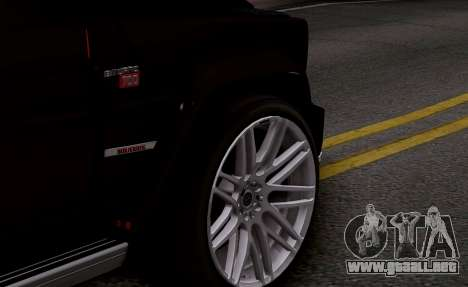 Brabus 700 para GTA San Andreas vista hacia atrás