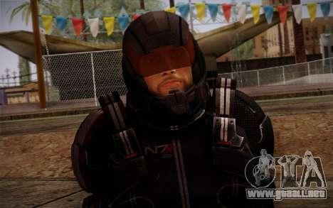 Shepard N7 Defender from Mass Effect 3 para GTA San Andreas tercera pantalla