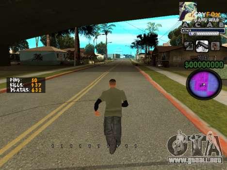 C-HUD. Con. Y. para GTA San Andreas tercera pantalla