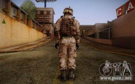 Chaffin from Battlefield 3 para GTA San Andreas segunda pantalla