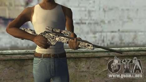 Nuevo rifle de francotirador para GTA San Andreas tercera pantalla