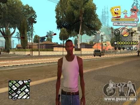 C-HUD Sponge Bob para GTA San Andreas sexta pantalla