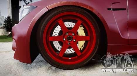 BMW 1M 2011 para GTA 4 vista hacia atrás