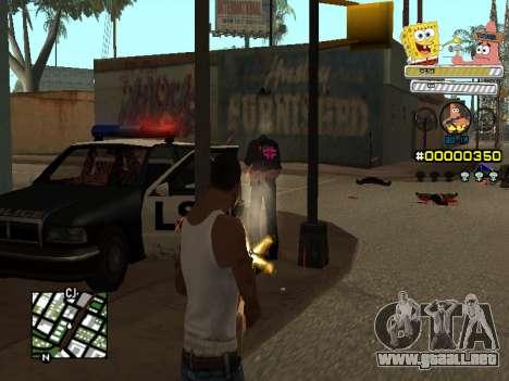 C-HUD Sponge Bob para GTA San Andreas sucesivamente de pantalla