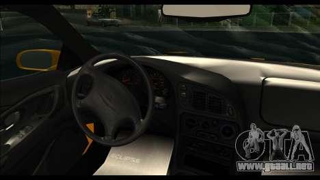 Mitsubishi Eclipce 1999 para GTA San Andreas vista posterior izquierda