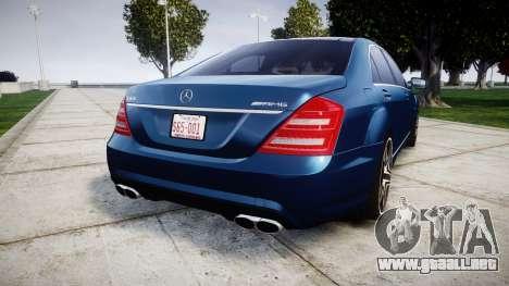 Mercedes-Benz S65 W221 AMG v2.0 rims2 para GTA 4 Vista posterior izquierda