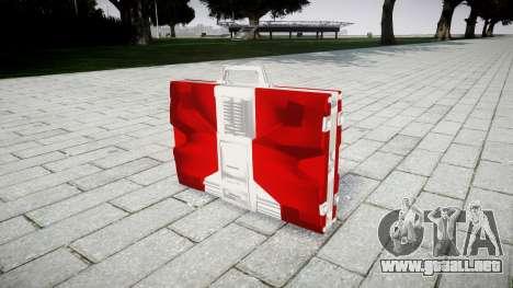 Iron Man Mark V Briefcase para GTA 4