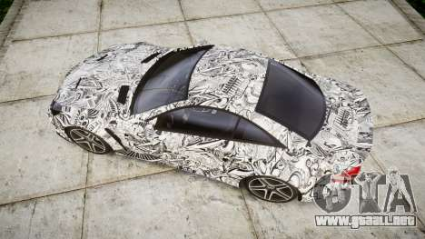 Mersedes-Benz SL65 AMG 2009 Sharpie para GTA 4 visión correcta