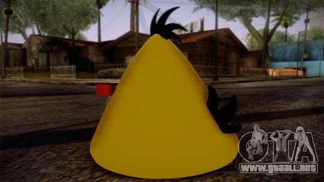 Yellow Bird from Angry Birds para GTA San Andreas segunda pantalla