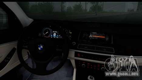 BMW 535i F10 para GTA San Andreas vista posterior izquierda