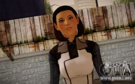 Dr. Eva Core New face from Mass Effect 3 para GTA San Andreas tercera pantalla