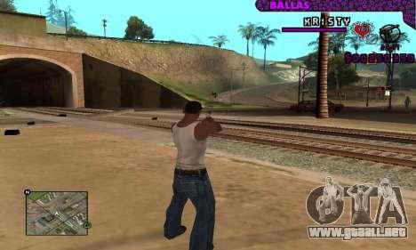 Ballas C-HUD para GTA San Andreas sucesivamente de pantalla
