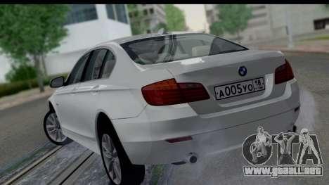 BMW 535i F10 para GTA San Andreas left