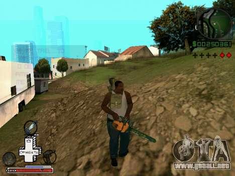 C-HUD Optiwka para GTA San Andreas quinta pantalla
