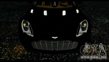 Aston Martin One-77 Beige Black para GTA San Andreas vista posterior izquierda