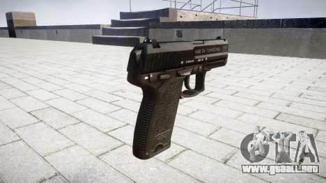 La pistola HK USP 40 para GTA 4 segundos de pantalla