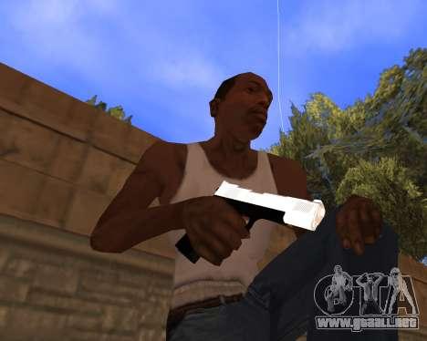 White Chrome Gun Pack para GTA San Andreas sucesivamente de pantalla