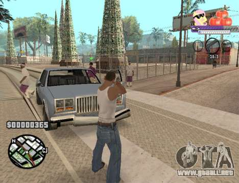 C-HUD Pony and Pomidors para GTA San Andreas