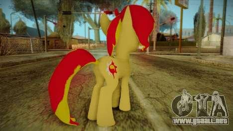 Summer Shimmer from My Little Pony para GTA San Andreas segunda pantalla